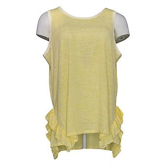 DG2 por Diane Gilman Women's Top Yellow Tank Polyester Sleeveless 723-674