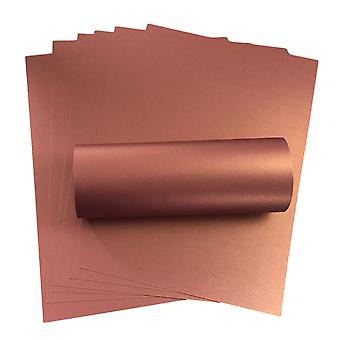 10 Sheets Violet A4 Card With Gold Pearlescent Shimmer Decorative One Sided 300gsm