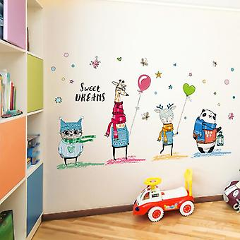 Sweet Dreams-animals Wall Sticker For Kid's Rooms