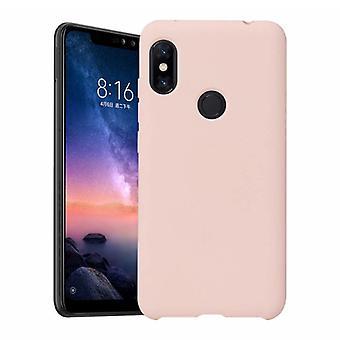 HATOLY Xiaomi Mi 10 Lite Ultraslim silikonfodral TPU mål omslag rosa