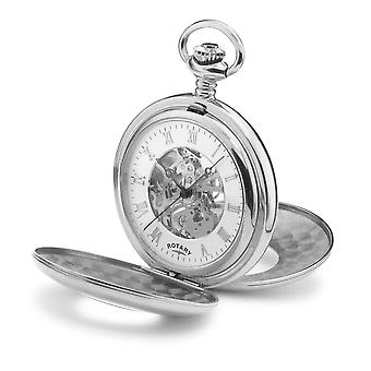 Rotary MP00712-01 Men's Skeleton Dial Pocket Watch
