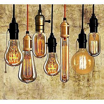 edison pære E27 lampada retro lampe glødepære edison lys for anheng