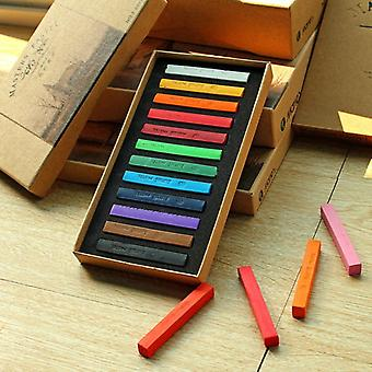Crayons Soft Dry Pastel  Drawing Set Chalk Color Crayon Brush Stationery