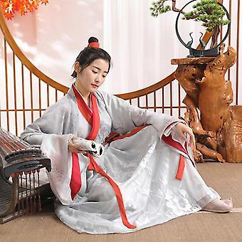 Vrouwen Folk Dance Vintage Elegant Verbeterde Hanfu Suit