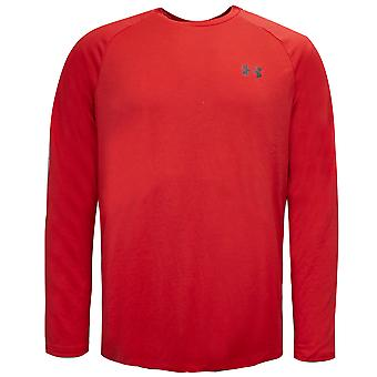 Under Armour Mens Tech 2.0 Long Sleeve Top Training Tee Red 1328496 633