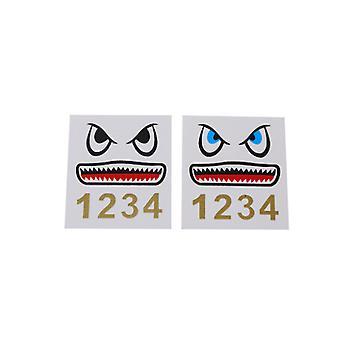 2stk Shark Sticker Drone Body Sticker Klæbende Decals til DJI Mavic 2