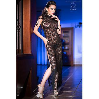 שמלת תחרה + מחרוזת CR3506 גודל שחור: S / M