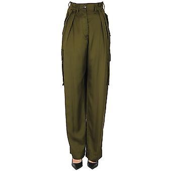 Dries Van Noten Ezgl093205 Women's Green Viscose Pants