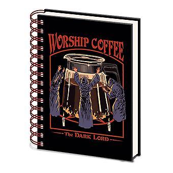 Steven Rhodes Worship Coffee A5 Wirebound Notebook