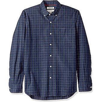 Goodthreads Men & apos; s Standard-Fit långärmad pläd poplin skjorta med button-Dow ...