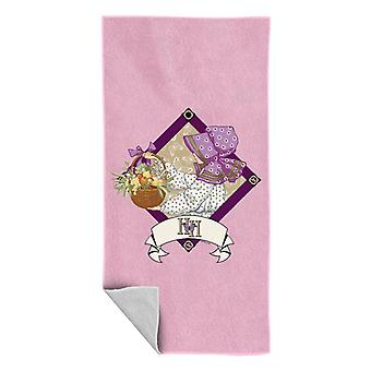 Holly Hobbie With A Basket Of Fruit And Flowers Beach Towel