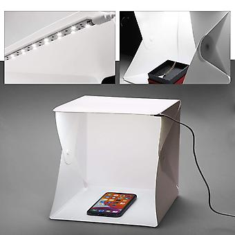 Photo studio mini led light box 9x9x9.5 in led photography portable mini foldable photo studio shoot