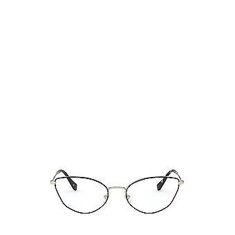 Miu Miu MU 51SV gafas de color oro pálido / negro hembra