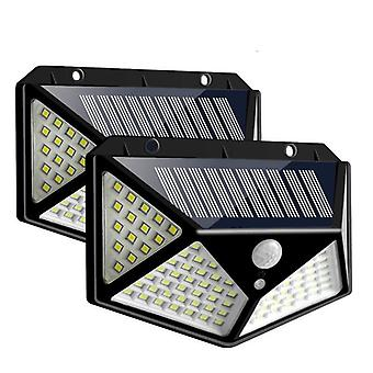 Outdoor Lights, Solar Powered Led- Wall Lamp With Sensor Control