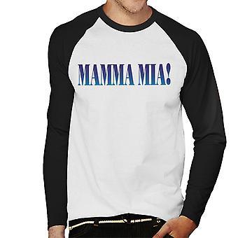 Mamma Mia Theatrical Logo Men's Baseball Long Sleeved T-Shirt