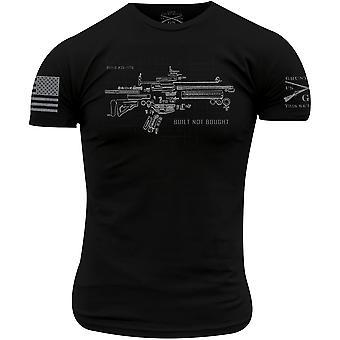 Estilo grunhido construído não comprado t-shirt - Preto