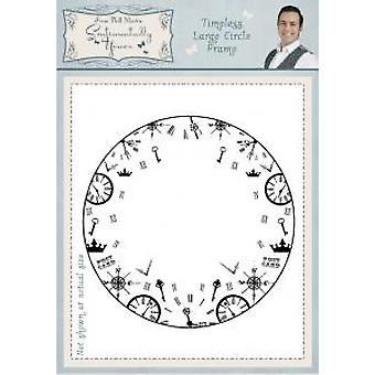Sentimentally Yours Timeless Large Circle Frame Pre Cut Stamp