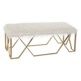 Bench Dekodonia With hair Polyester Metal (120 x 40 x 45 cm)