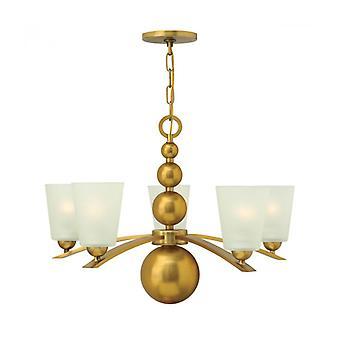 Lámpara Colgante Zelda, Bronce Vintage, 5 Bombillaa