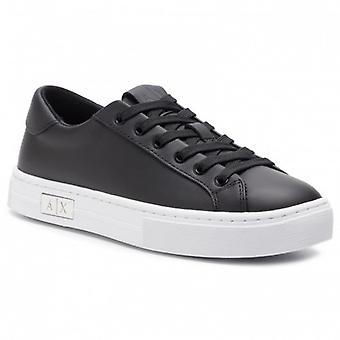 Women's Shoes Armani Exchange Sneaker In Black Leather D21ax02