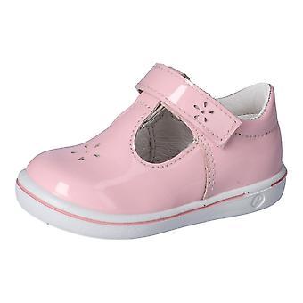 RICOSTA Patent Velcro T Bar Shoe With White Sole