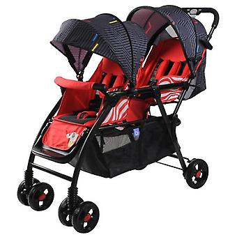 Twin Baby Stroller, Lightweight Cart, Portable Folding Baby Carriage