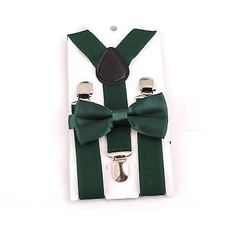 Dětské kšandy s motýlkem, sada, rovnátka, nastavitelné dětské svatební kravaty