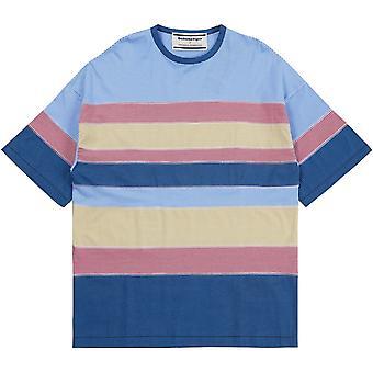 Asics Herren gestreift T-Shirt Kurzarm Rundhals T Shirt T-Shirt Top