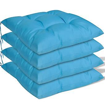 vidaXL seat cushion 4 pcs. 40 x 40 x 8 cm Blue