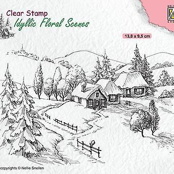 Timbro chiaro a scelta di Nellie - Floreale idilliaco - Wintery IFS026
