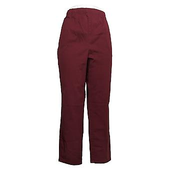 Denim & Co. Women's Petite Pants Stretch With Side Pockets Red A380901