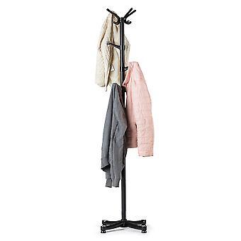 Rack de casaco em pé 180cm - Aço - Preto