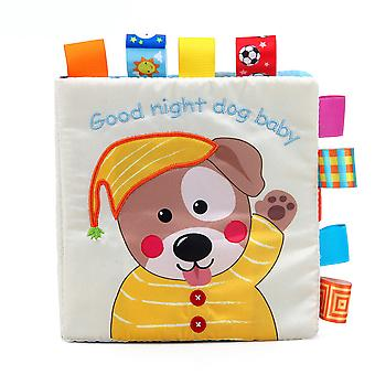 Good Night Baby Dog Educational Fabric Book With Sound Paper Bb Device Sound Box Soft Cloth Book