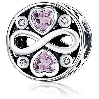 FengChun für immer Liebe 925 Sterling Silber Perle Charms passend fr Pandora, europische Armbnder