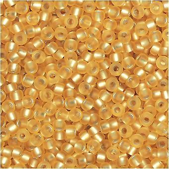 Круглые бусины Miyuki, размер 11/0, тюбик 8,5 грамм, #1902 полуматовое серебристое золото