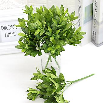 Artificial plant rhododendron leaf plastic fake green plants 5pcs