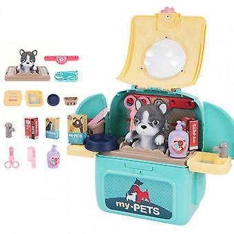 Pet Backpack, Practical Exquisite Plastic Pretend Play, Care Set