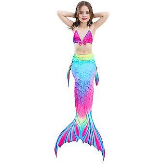 Kids Girls Svømning Havfrue Havfrue Kostume Cosplay Børn Badedragt Fantasy Beach Bikini