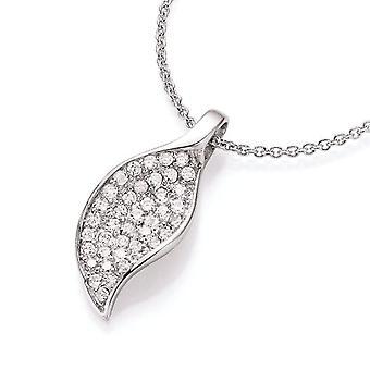 Spirit - New York Woman-Pendant in Rhodium Silver with White Zircons 99002693430