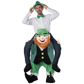 Carry Me Leprechaun Irish St Patricks Day Ride On Piggy Back Mens Costume OS