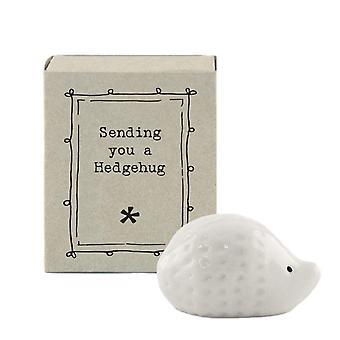 East of India Ceramic Sending Hedgehugs
