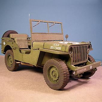 Sotilasajoneuvot, Diy 3D Paper Card -malliset rakennussarjat, Rakentaminen,