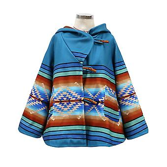 M femmes à manches longues pardessus de couleur impression en vrac manteau enveloppe cai657