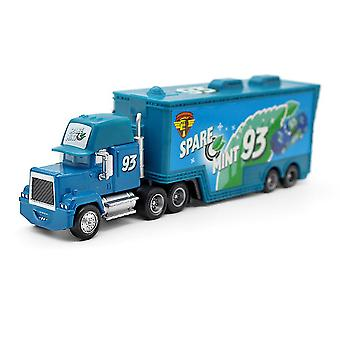 Cars Racing Car Spare Mint 35 Mack Trailer Container Children's Alloy Toy Car Model