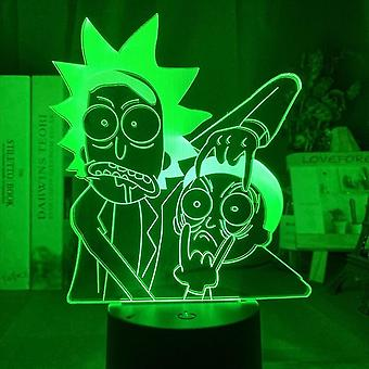 New Rick And Morty 3d Led Night Light Kids Bedroom Table Lamp ES9169
