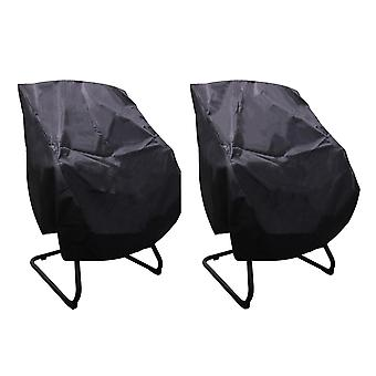 For 2pcs Polyester Boat Seat Cover for Outdoor Seat 56x61x64cm Black&Silver WS4417