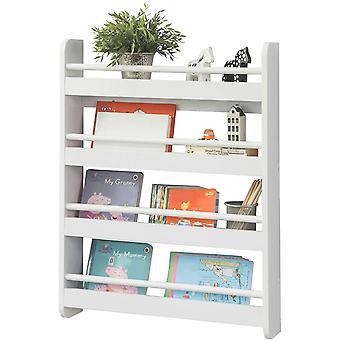 SoBuy parete legno bianco 4 livelli di Kids Storage scaffalature libreria Rack KMB08-K-W