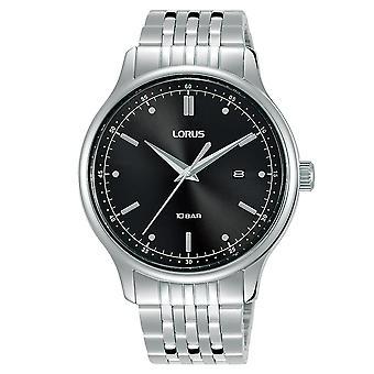 Lorus RH901NX9 Herrenkleid Schwarz Zifferblatt Edelstahl Armband Uhr
