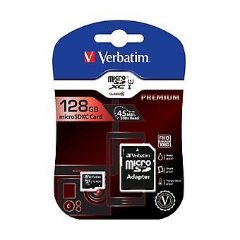 Doslovný zápis 128GB trieda 10 microSDXC s adaptérom