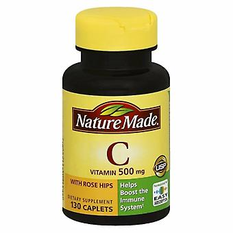 Nature Made Vitamin C with Rose Hips, 500mg, 130 Tabs
